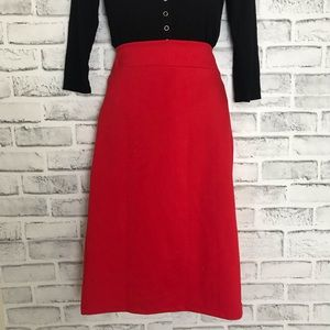 Dresses & Skirts - High Waisted Red Pencil Skirt NWT